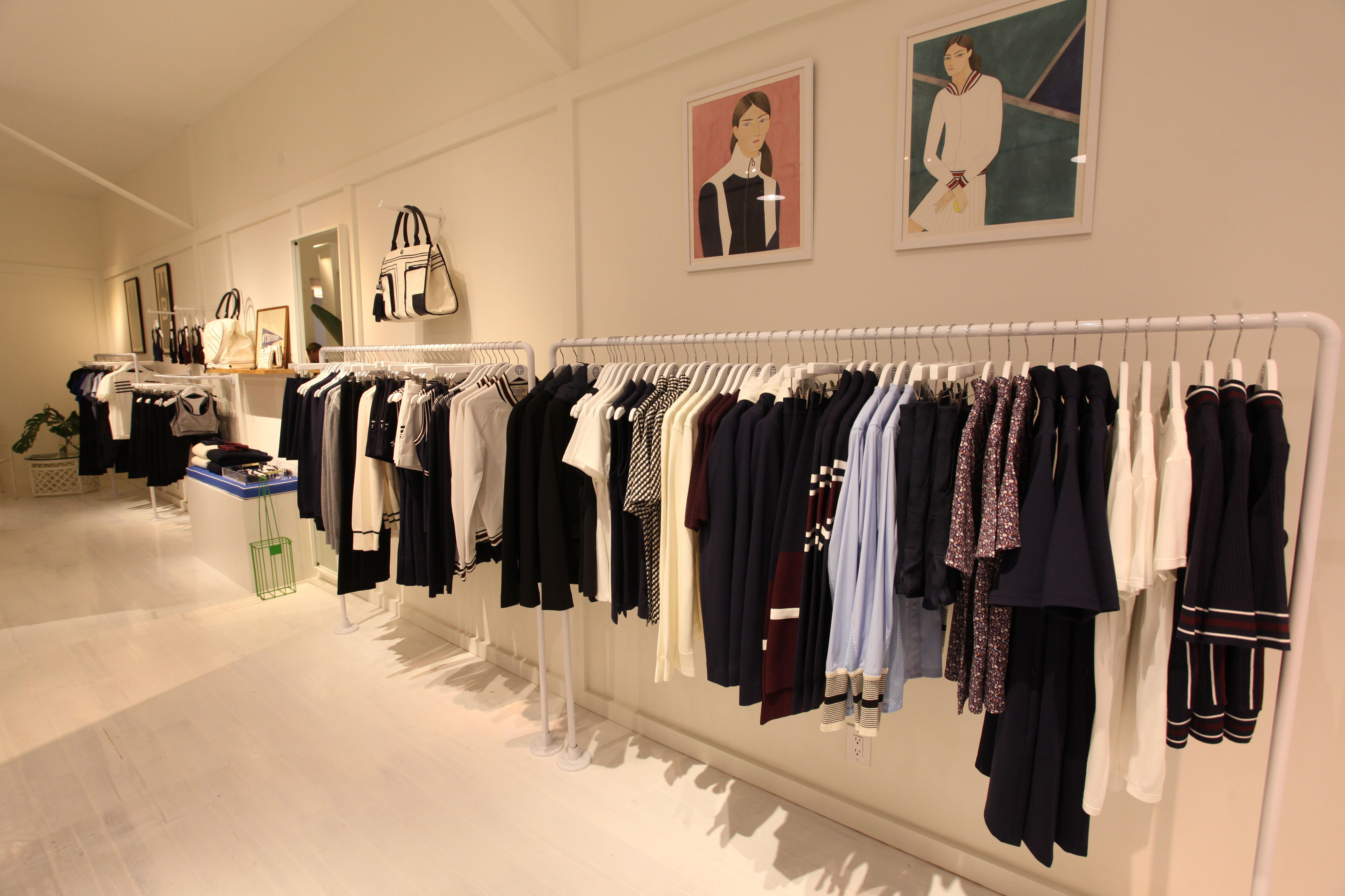 The Tory Sport pop-up shop at 257 Elizabeth Street in New York.