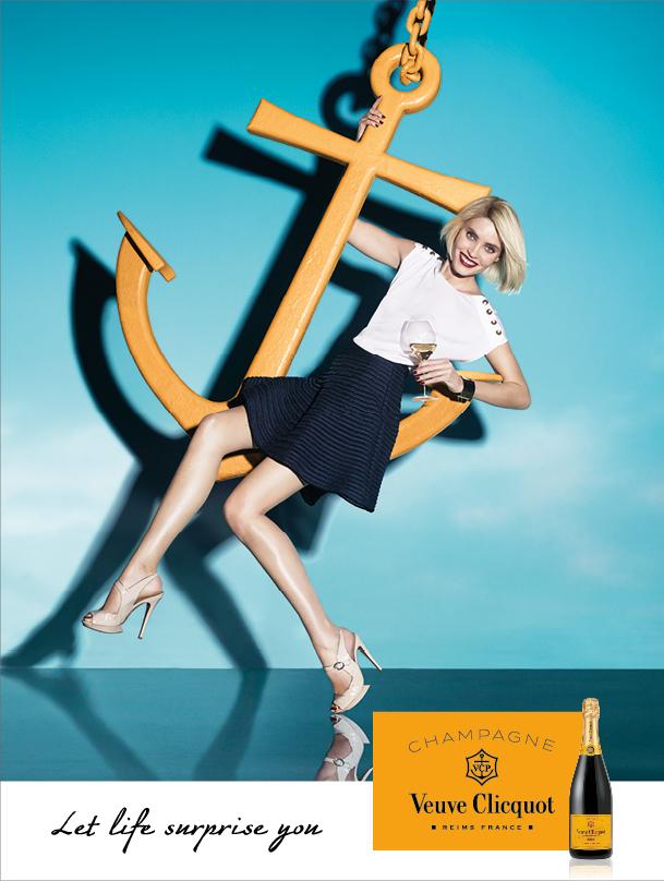 The Veuve Clicquot fall ad campaign.