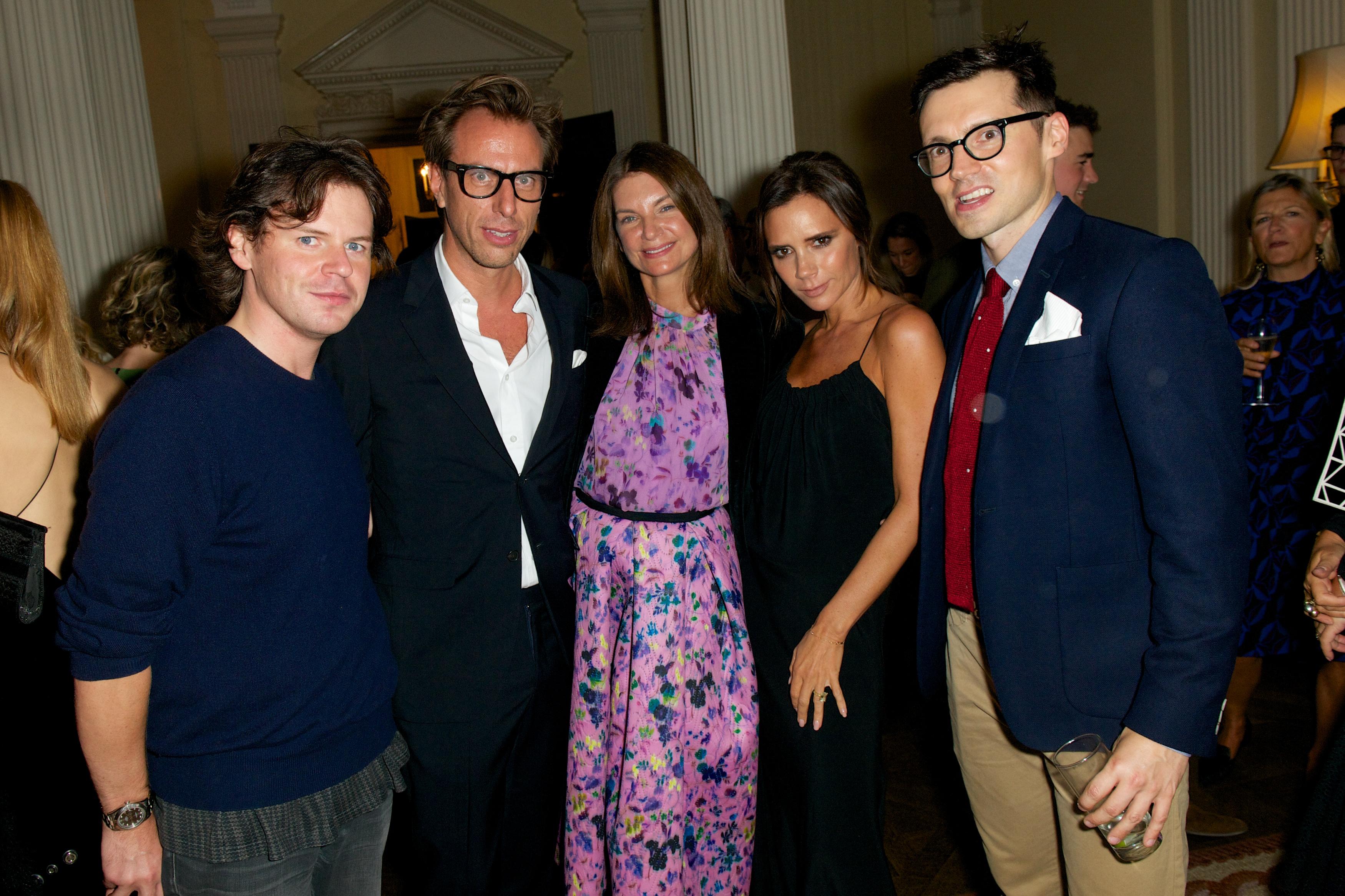 Christopher Kane, Erik Torstensson, Natalie Massenet, Victoria Beckham Erdem Moralioglu Vogue London Fashion Week Party 2015 Winfield House