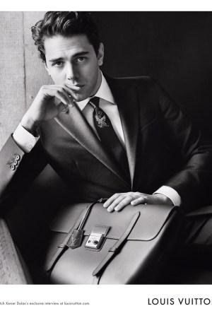 Xavier Dolan in the Louis Vuitton fall campaign