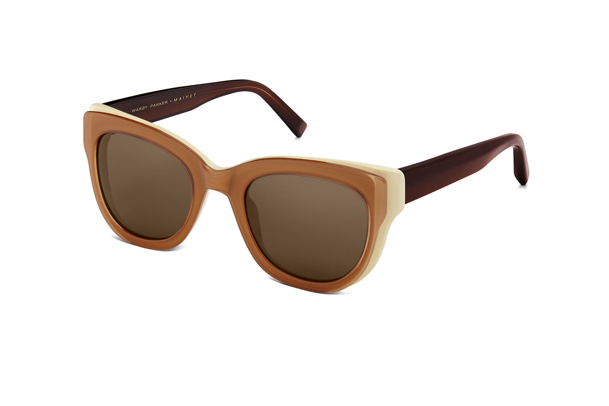 A pair of Warby Parker x Maiyet sunglasses.