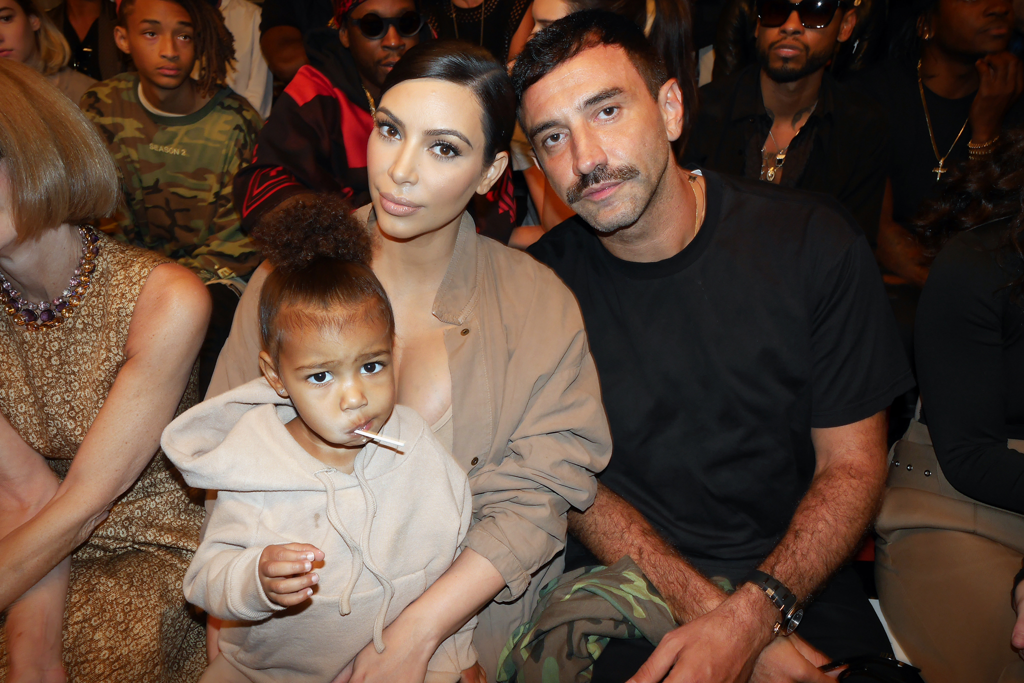 North West, Kim Kardashian and Riccardo Tisci.