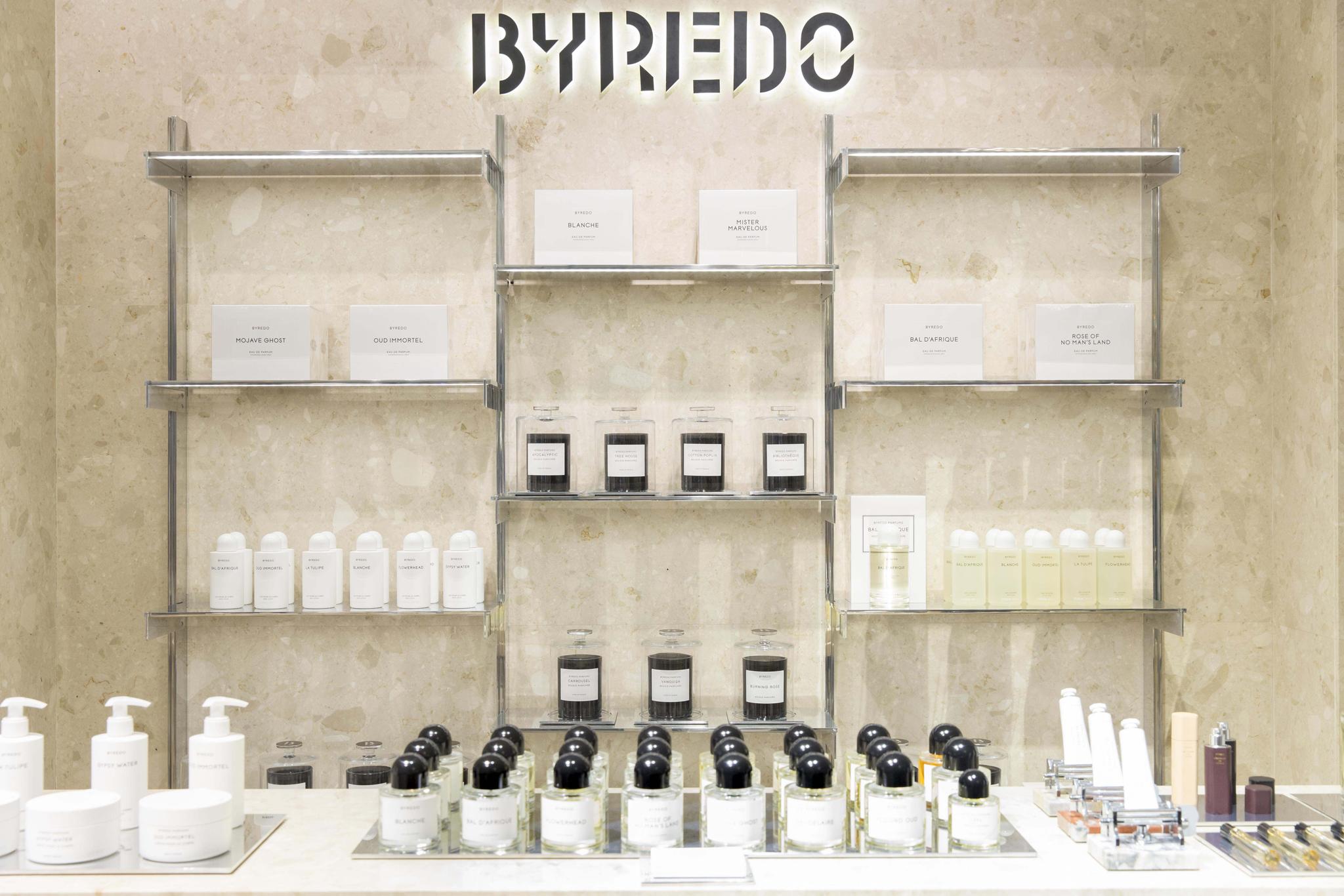Byredo display area in Lane Crawford.