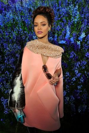 Rihanna at the Dior Spring 2016 show.