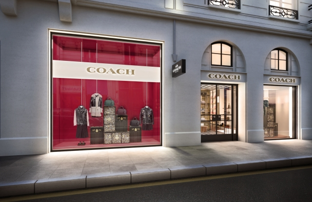 Facade of Coach's first Paris flagship