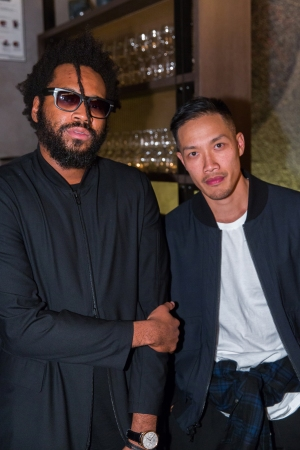 """Maxwell Osborne and Dao-Yi Chow at Donna Karan's """"My Journey"""" Book Party, 2015."""