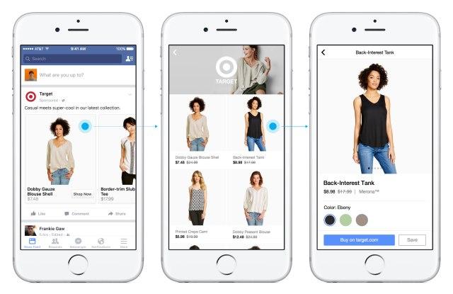 Facebook shopping app