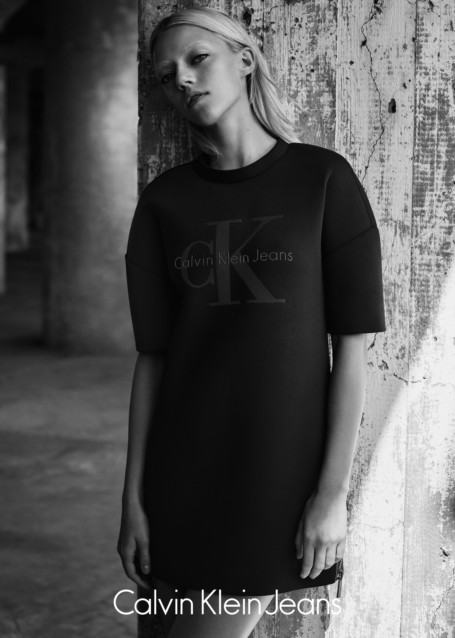 Calvin Klein Jeans Black Series Limited Edition campaign featuring Lucky Blue Smith and Pyper America Smith.