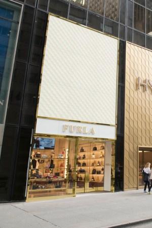 Exterior of Furla's Fifth Avenue flagship.
