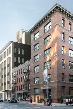 A rendering of the Gansevoort Street project.
