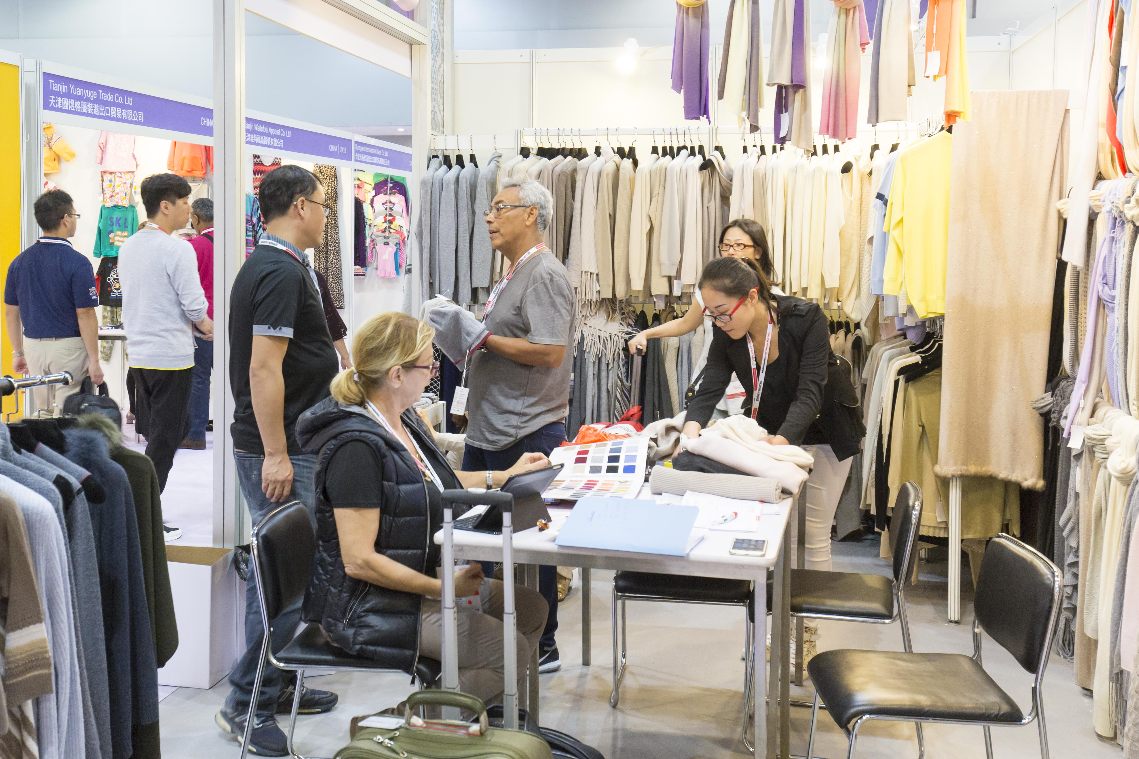 Inside the China Sourcing Fair held at the Asia Expo in Hong Kong.