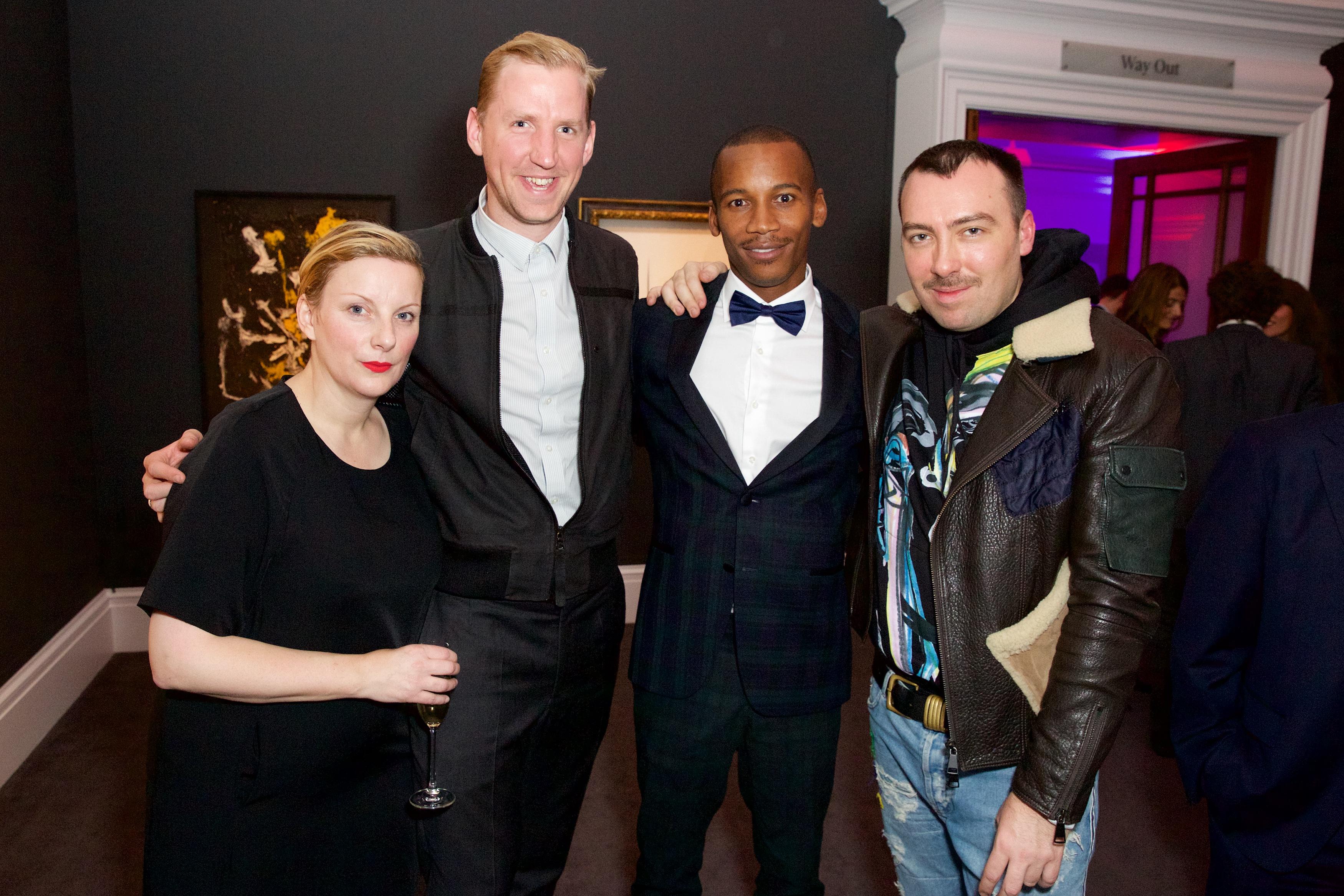 Lou Dalton,Christopher Raeburn,Eric Underwood andJames Long Tommy Hilfiger Edun Frieze London Party