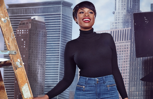 Jennifer Hudson in the jeans she designed with New York & Co.