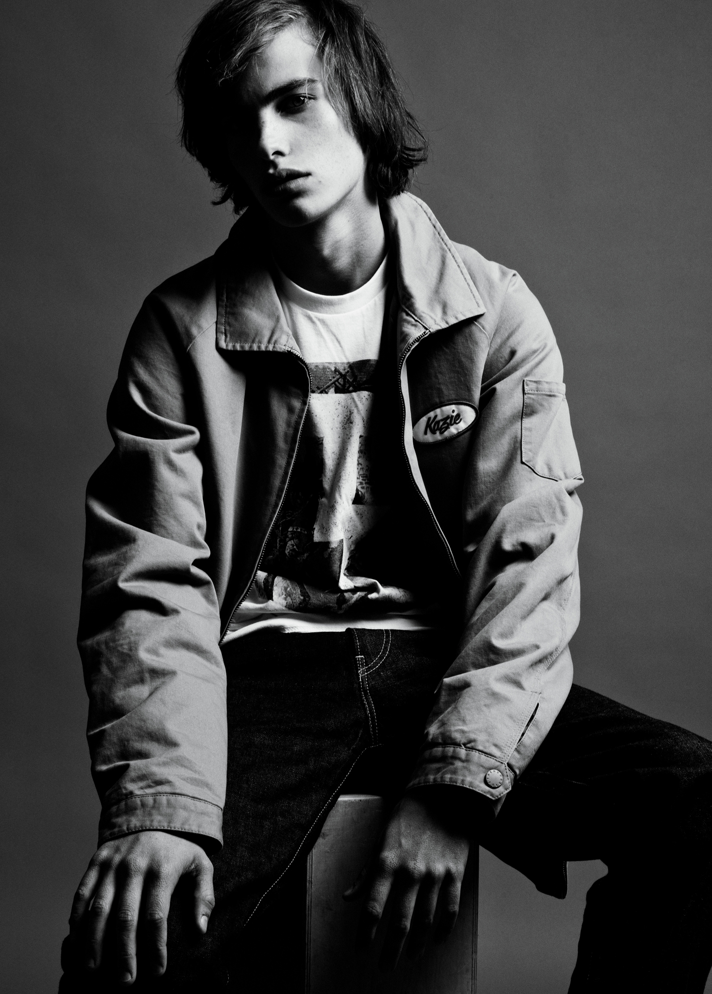 The Hundreds' jacket, Tackma's T-shirt and Noah's jeans, all in cotton.