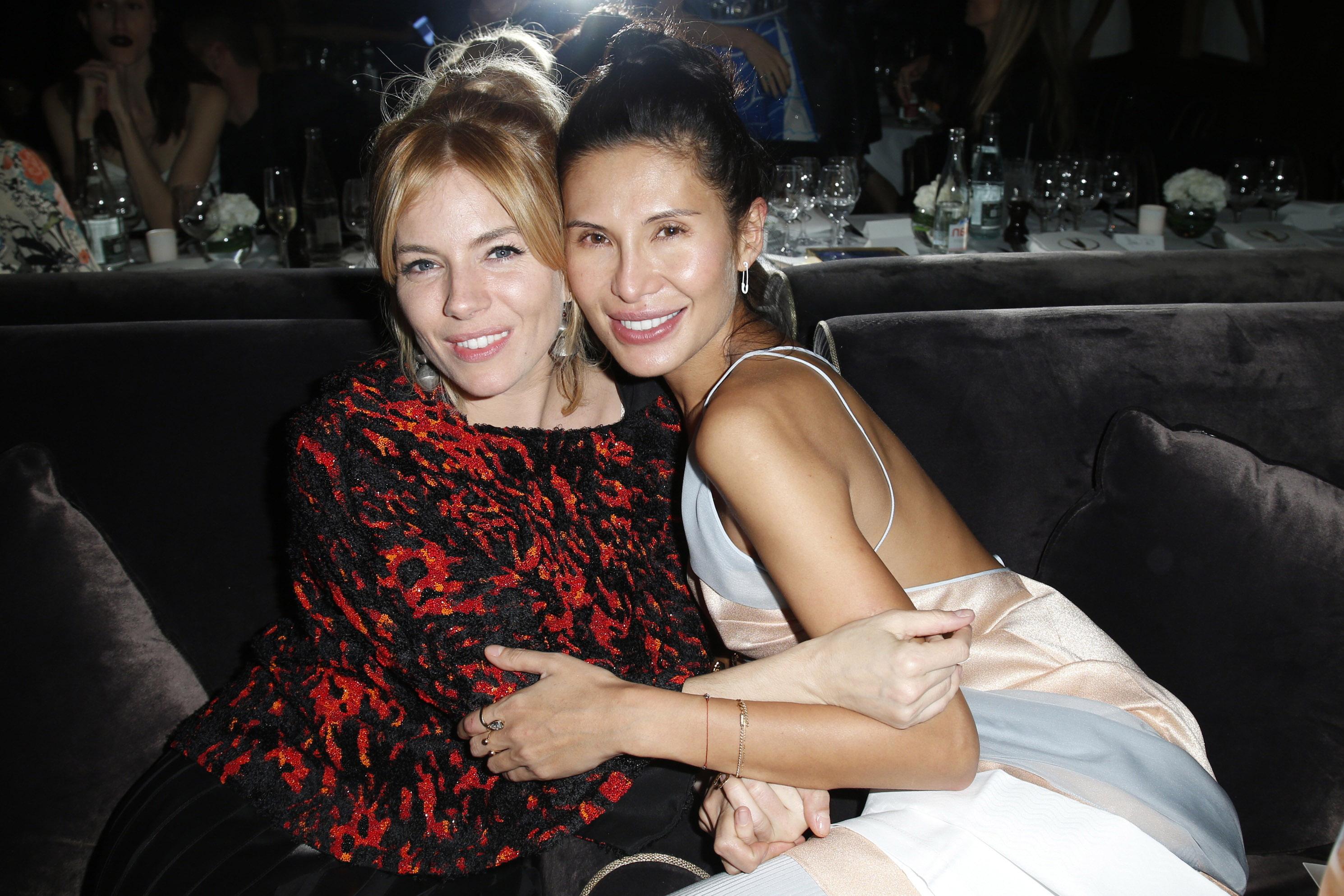 Sienna Miller and Goga Ashkenazi Vionnet Paris Fashion Week Dinner 2015