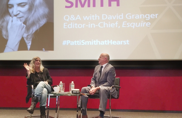 Patti Smith speaking with David Granger at Hearst Tower