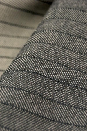 Cotton Incorporated's black and gray horizontal pinstripe.
