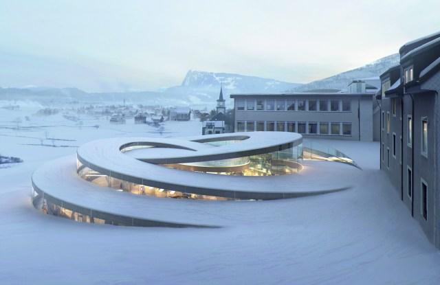 A rendering of the Audemars Piguet Museum in Switzerland.