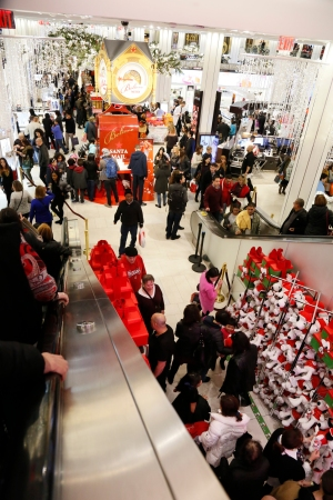 Black Friday shoppers in New York City