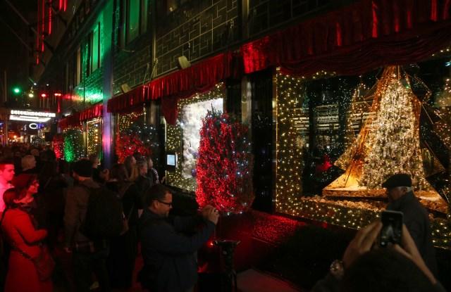 Bloomingdale's 2015 holiday window display.
