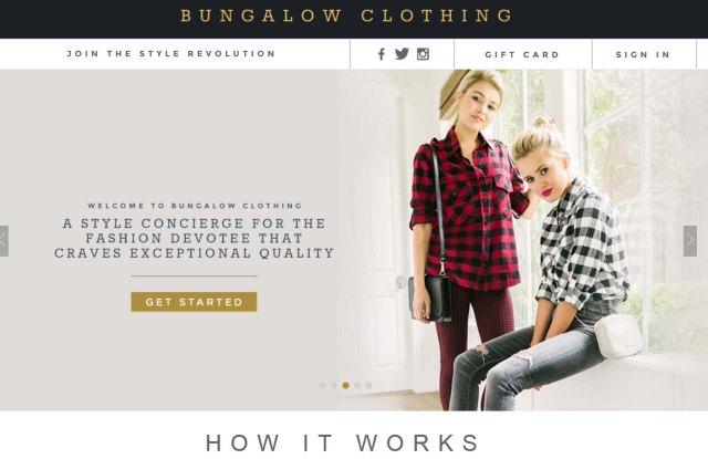Bungalow Clothing website