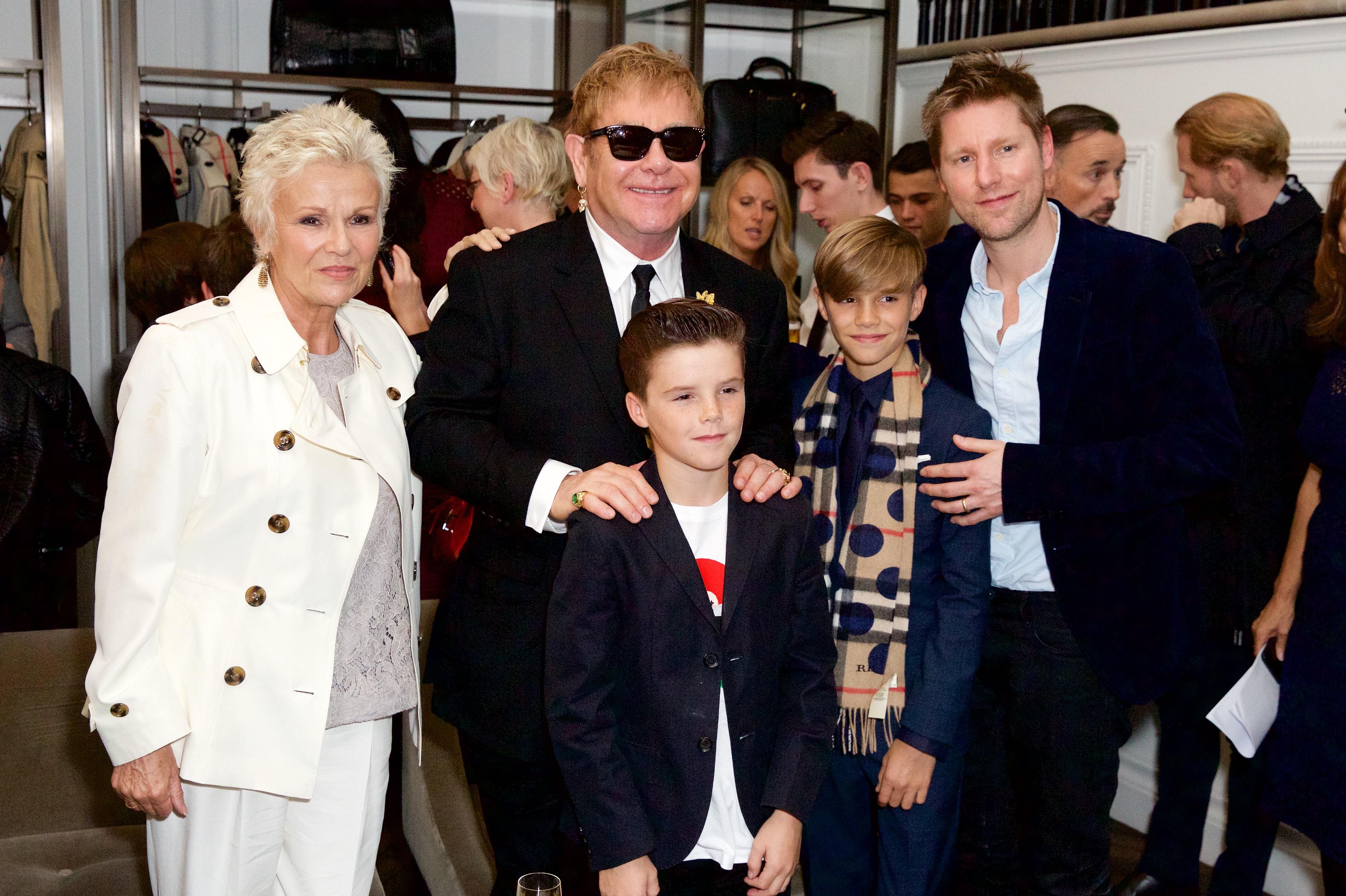 Julie Walters, Elton John Christopher Bailey Romeo Cruz Beckham