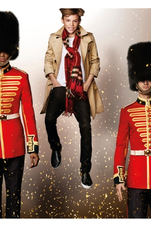 Romeo Beckham featured in Burberry's Festive Campaign, shot by Mario Testino.