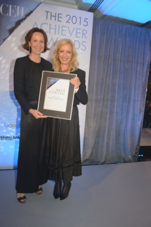 Jo Allison, Chanel PR Director and Mary Greenwell CEW UK Awards