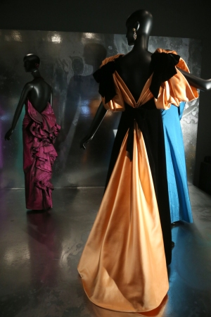 """A view of """"Jacqueline de Ribes: The Art of Style"""" at The Met."""