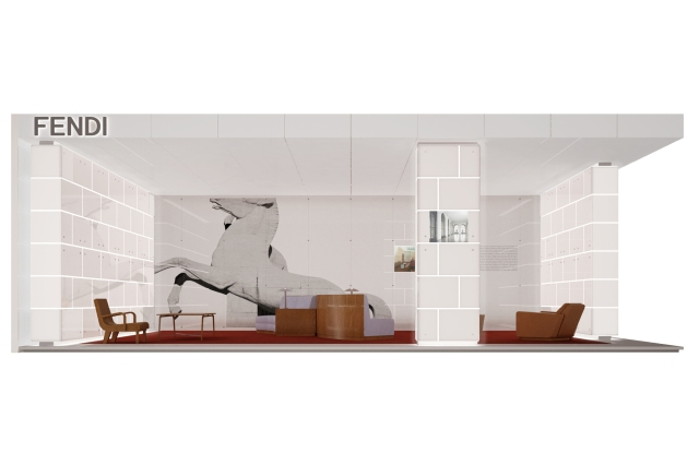 A rendering of Fendi's take on  Guglielmo Ulrich's designs.