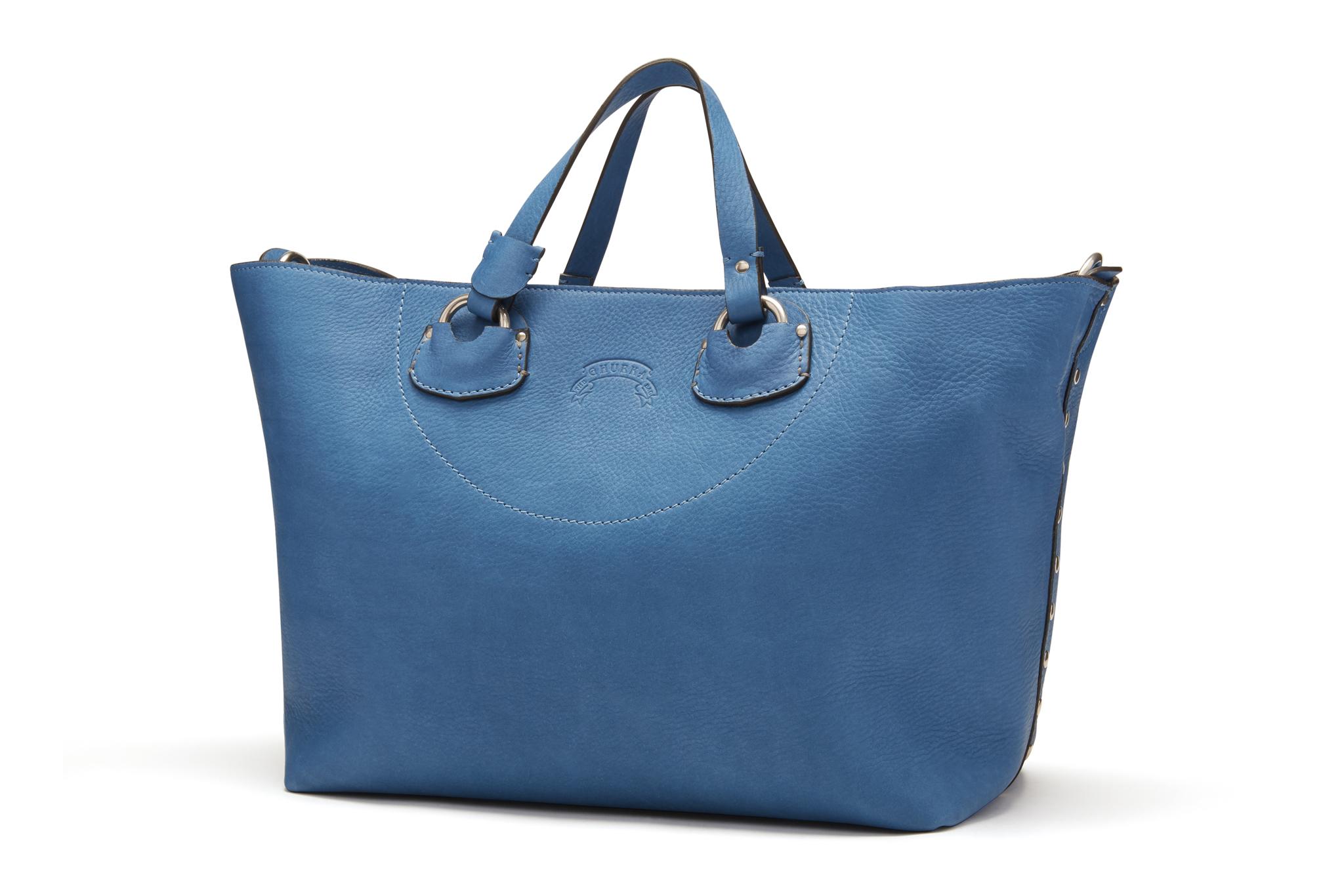 A handbag by Ghurka.