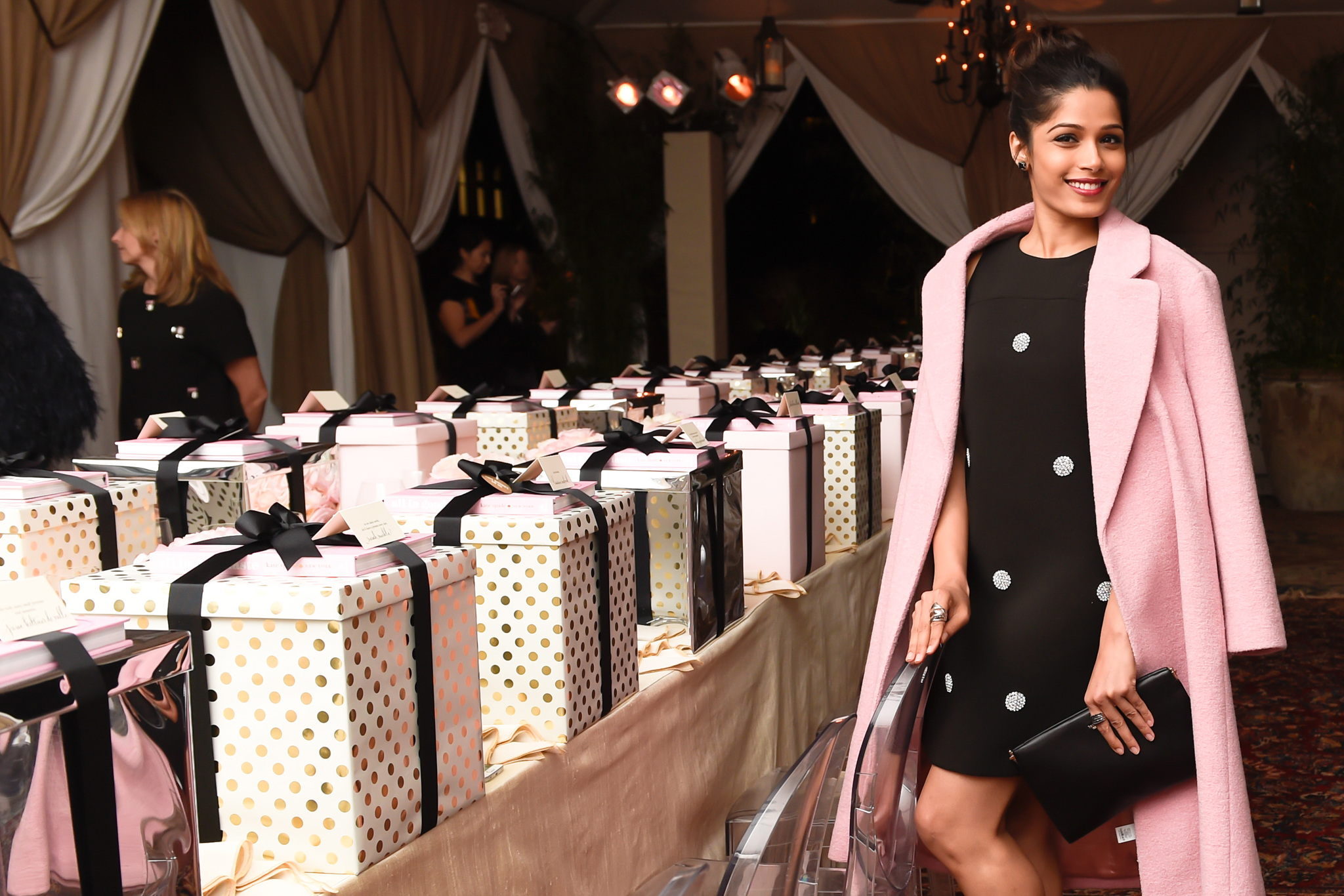 Freida Pinto kate spade new york: ALL IN GOOD TASTE HOLIDAY DINNER