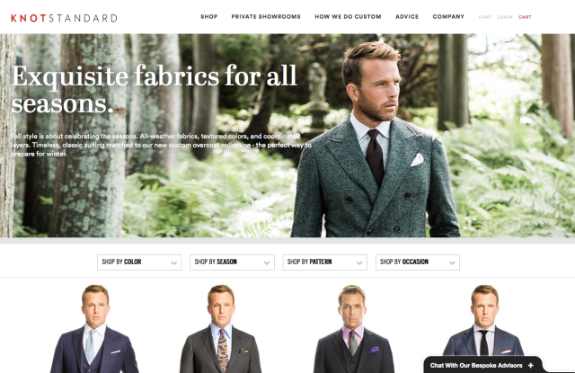 The Knot Standard homepage.