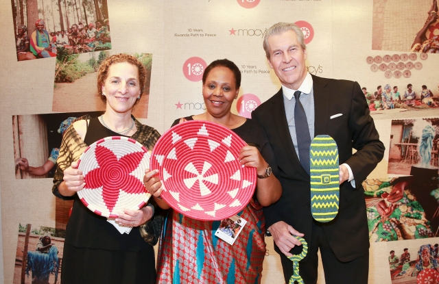 Willa Shallt, Janet Nkubana of Gahaya Links, and Terry Lundgren.