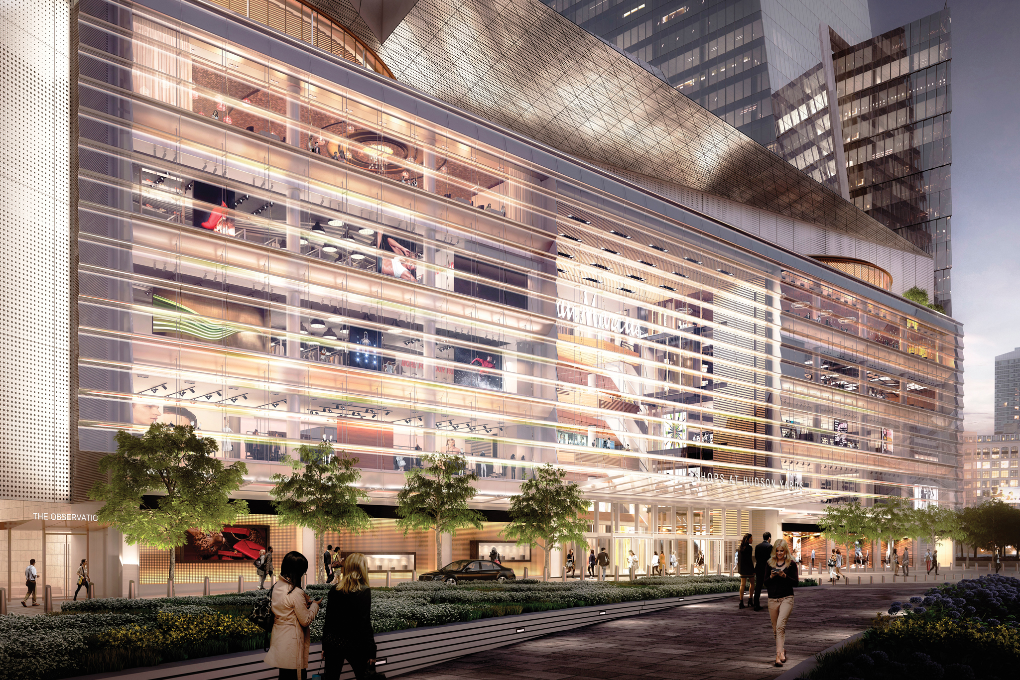 A rendering of the Hudson Yards project.