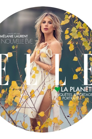 Melanie Laurent on the cover of Elle France's special issue