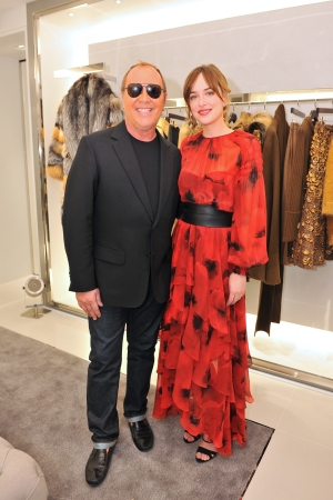 Michael Kors and Dakota Johnson