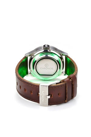 Chronos, a piece of hardware that sits discreetly beneath an existing timepiece in consumers' collections. $99- $129