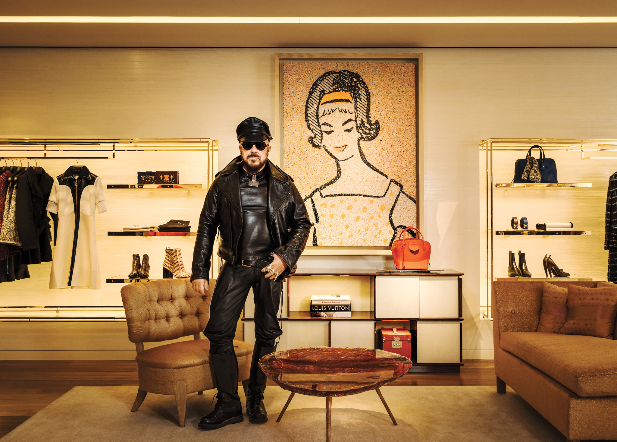 Peter Marino in Louis Vuitton's 57th street flagship.