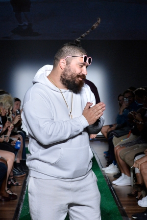 """The Fat Jew at his """"Dad Fashion"""" show."""