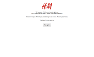 H&M's Web site was briefly brought down by the Cyber Monday rush.