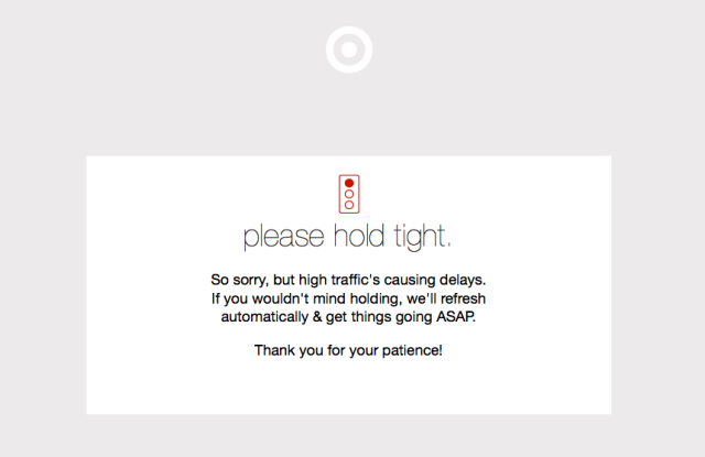 Target.com was briefly brought down by the Cyber Monday rush.
