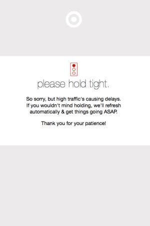 Target's Cyber Monday website