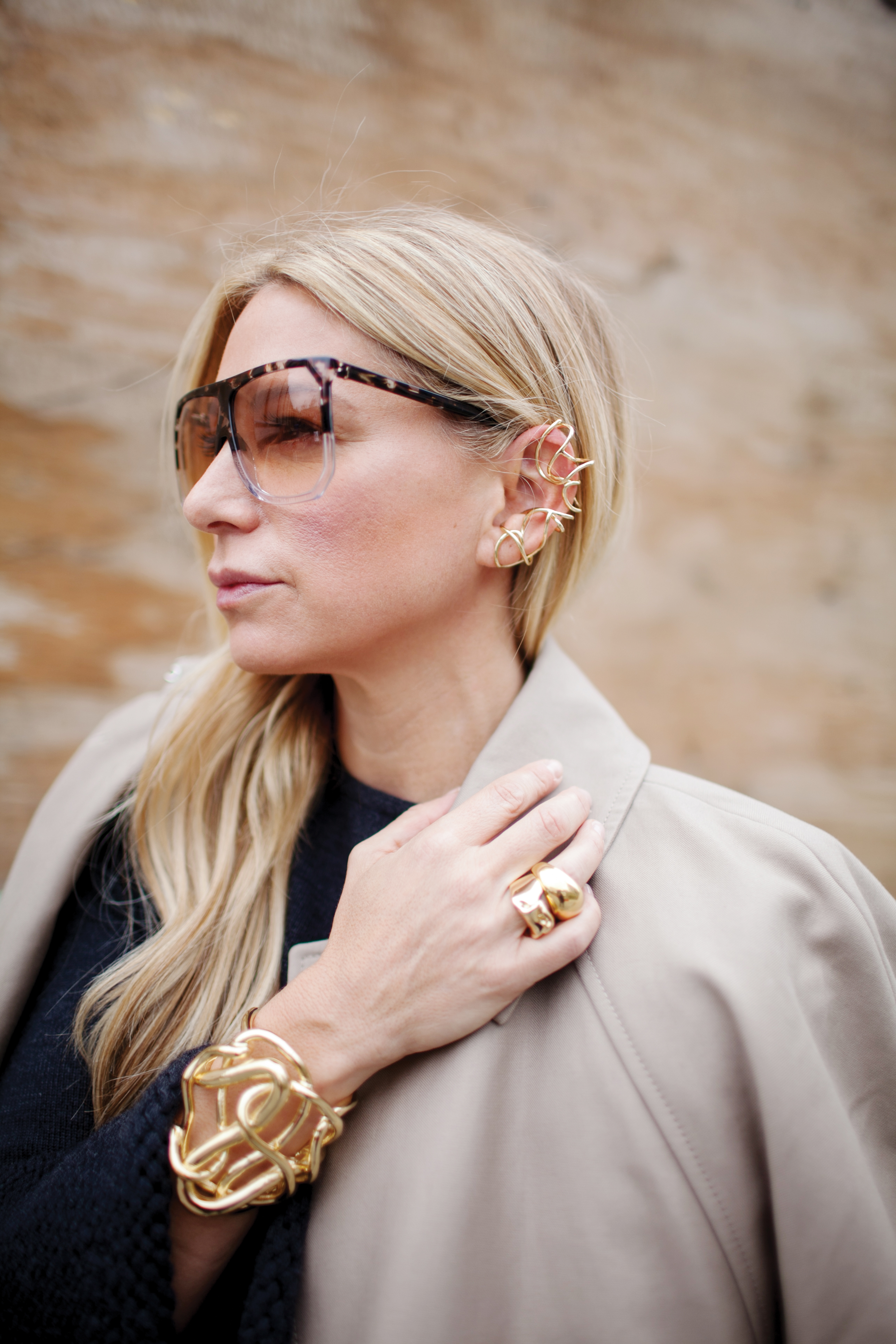 Street style jewelry from spring fashion weeks around the world.