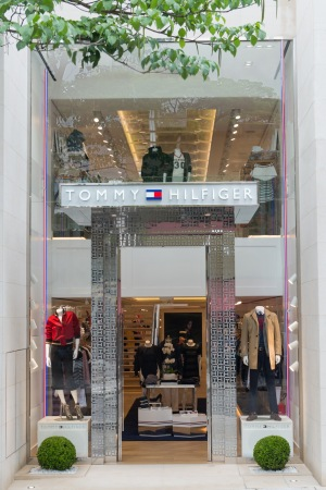 The Tommy Hilfiger store in Brazil.