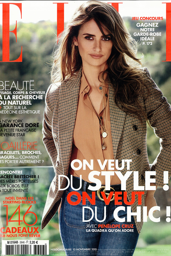 The cover of the French Elle's issue of Nov. 13