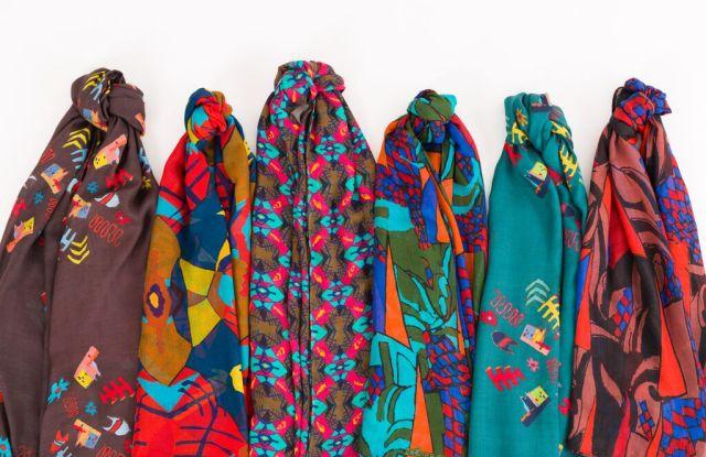 Primitive Modern scarves