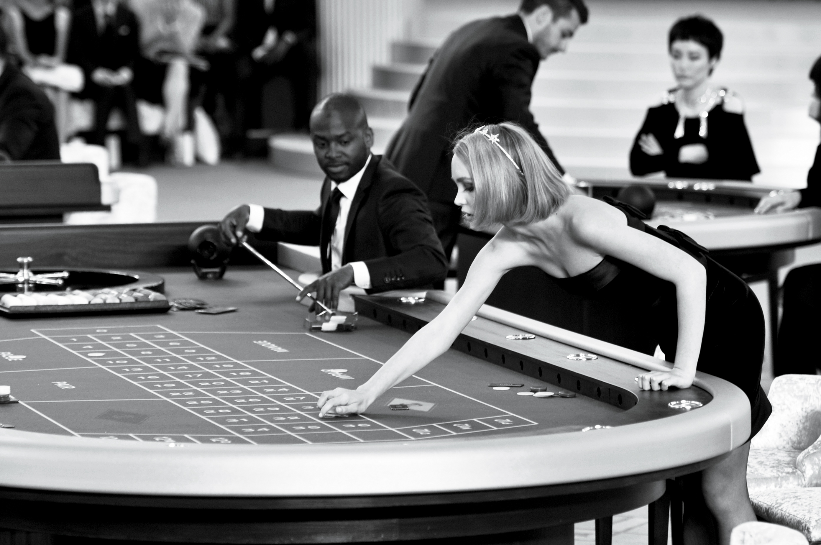 July 8th: Karl Lagerfeld's Chanel couture show converts the Grand Palais into the Cercle Privé casino.