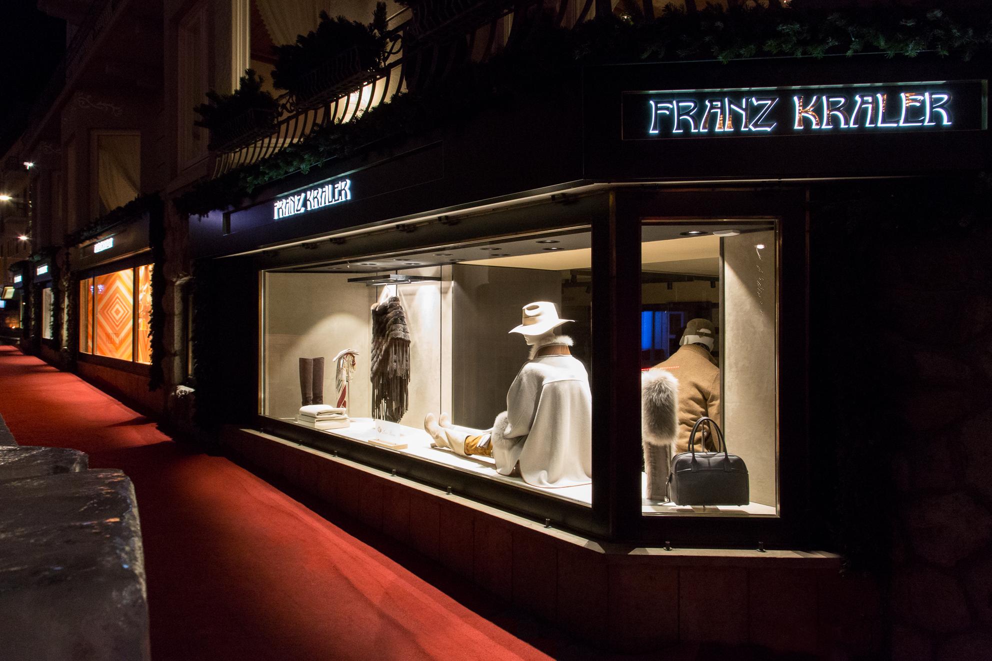 Franz Kraler's store in Cortina d'Ampezzo