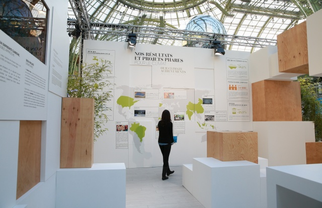 L'Oréal's stand at the COP21 Solutions forum